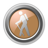 "Bronze 3D Style Button ""Hiking"""