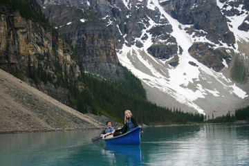 Two canoers