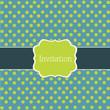Polka dot design, vector frame