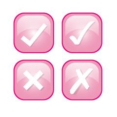 richtig falsch buttons