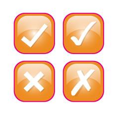 icon set orange