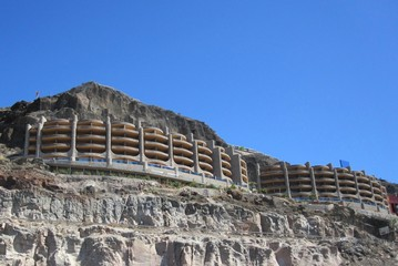 Hotel on a cliff in Gran Canary