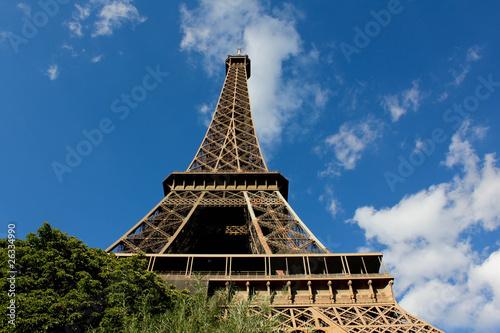 Deurstickers Aan het plafond Eiffel tower
