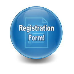 Esfera brillante texto Registration Form!
