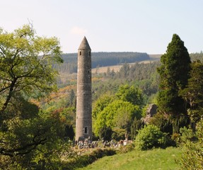 round tower at glendalough co wicklow