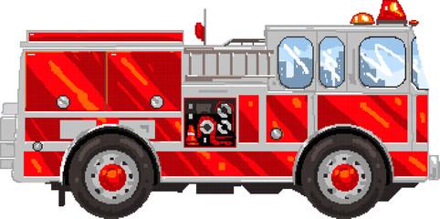 PixelArt: FireTruck