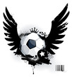 Soccer ball on dirty background