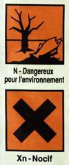 étiquette de produit dangereux pour l'environnement
