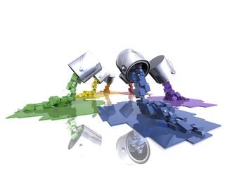 Multi colour pixel paint