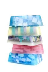 a pile of soapblocks