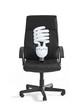 office chair and lightbulb
