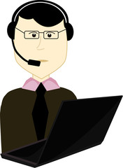 telephonist (operator)