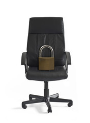 Padlock on chair