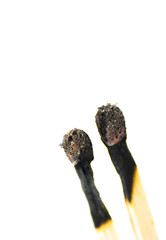 burned matches