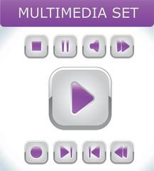 Violet multimedia set