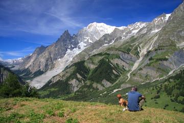 Monte Bianco salendo verso il rifugio Bertone
