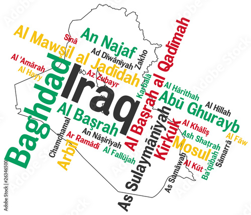 Iraq map and cities