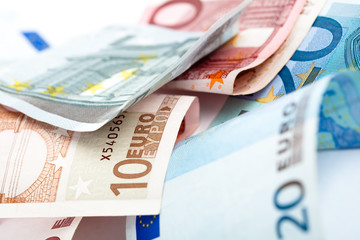 euro note closeup