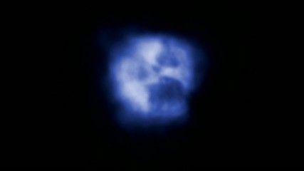 blue smoke,explosion in space
