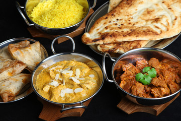 Indian Curry Meal Selection