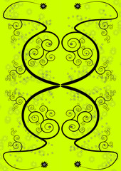 Green Swirl Pattern