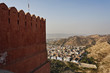 India, Rajasthan, Jaipur, panoramic view of the city