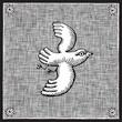 roleta: bird woodcut