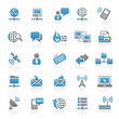 Blue Gray Web  Icons - Internet & Communication - Set 7