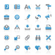 Blue Gray Web Icons - Office & Internet - Set 5