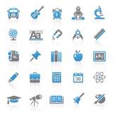 Fototapety Blue Gray Web Icons - School & Education - Set 9