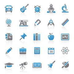 Blue Gray Web Icons - School & Education - Set 9