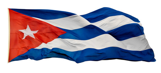 The Cuban National Flag isolated on white