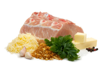 Pork Chops with grated cheese