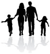 Family silhouette - Vector - 26356948