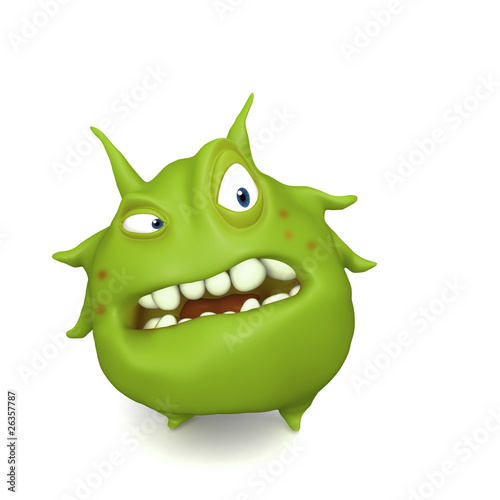 Leinwanddruck Bild big green virus