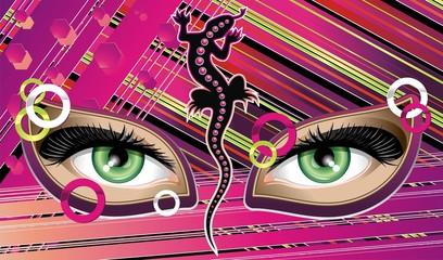 Occhi Verdi Astratti-Abstract Green Eyes-Vector