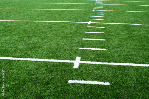 Fotobehang Wintersporten Astro turf football field