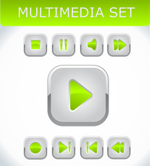 Orange multimedia set