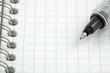 stylos à bille sur page de carnet à spirale