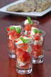 Caprese appetizers with tomatoes, mozzarella and basil