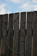Wire on a fence