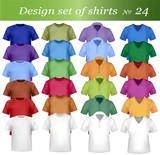 Fototapety Twenty-fourth design shirt set. Vector.