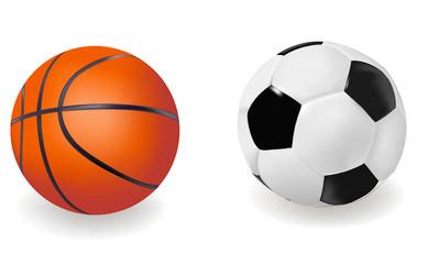 Set of sports balls. Vector illustration.