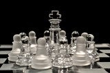 King Surrounded by Pawns in Chess Game