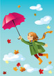 roleta: Girl with umbrella