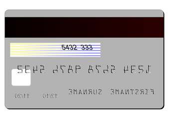 BACK CREDIT CARD