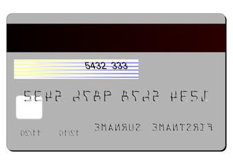 BACK CREDIT CARD