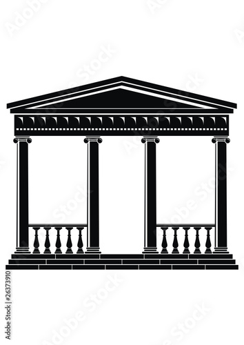 Architectural element - Portico (Colonnade), an ancient temple