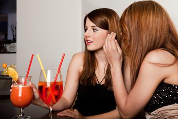Girls talking gossips