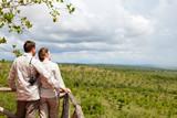 Couple on safari vacation